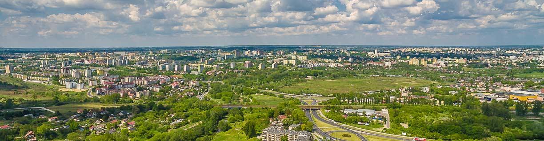 Lublin - Czuby z lotu ptaka