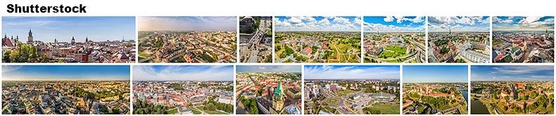 Zdjęcia z lotu ptaka na Shutterstock