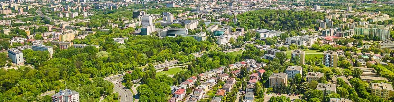 Lublin widok z lotu ptaka